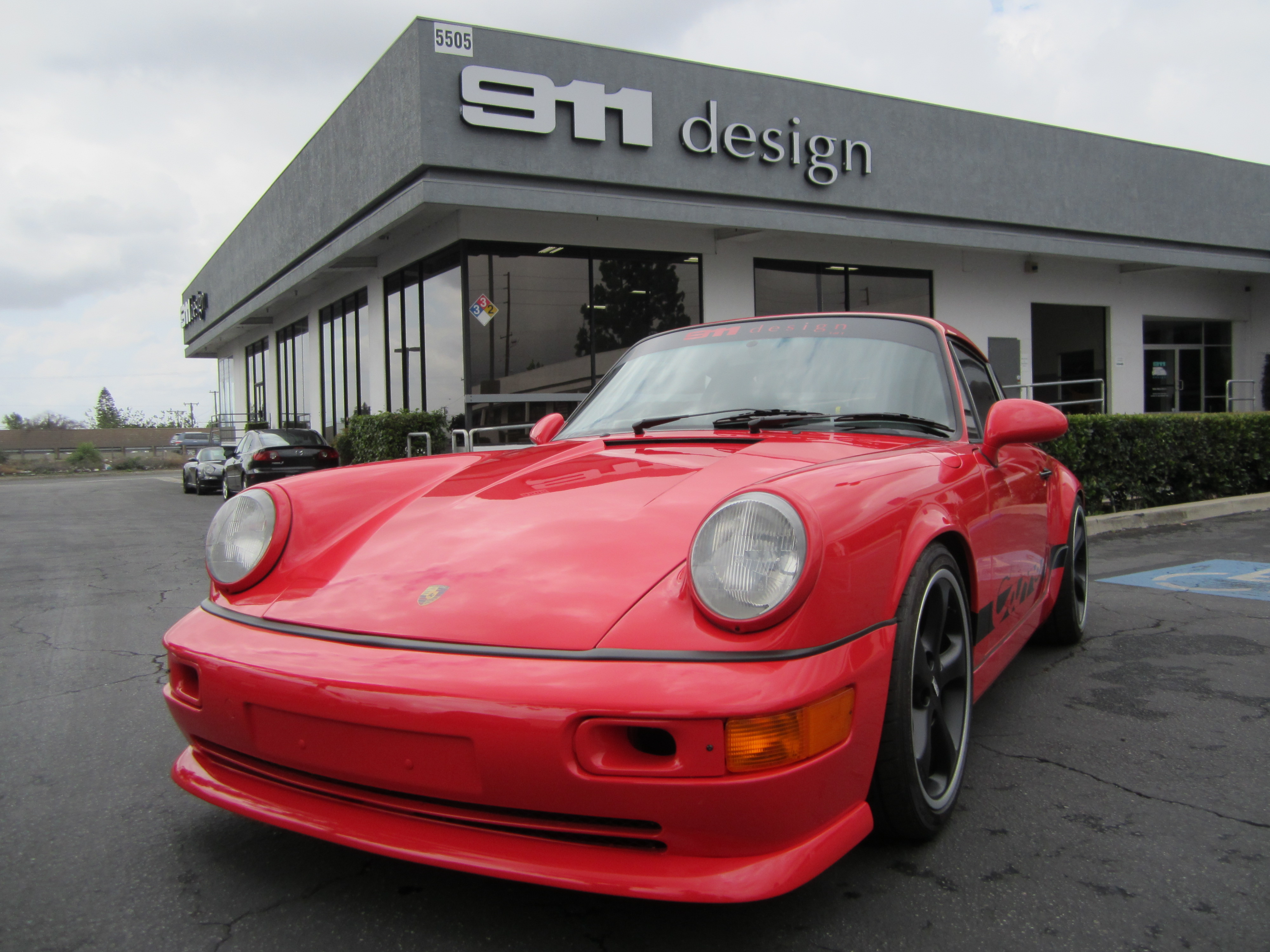 A 1989 Porsche 964 after being completely customized with Porsche 933 parts.