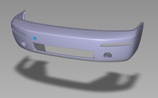 Digital rendering of a new front bumper for a 964 restoration.